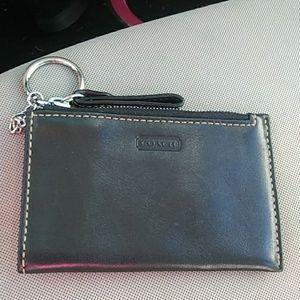 Coach keychain/ card holder